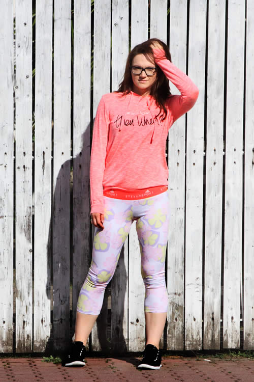 Model in Adidas Hawaii Leggings